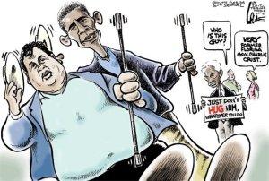 Christie and Obama