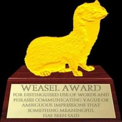 weasel award